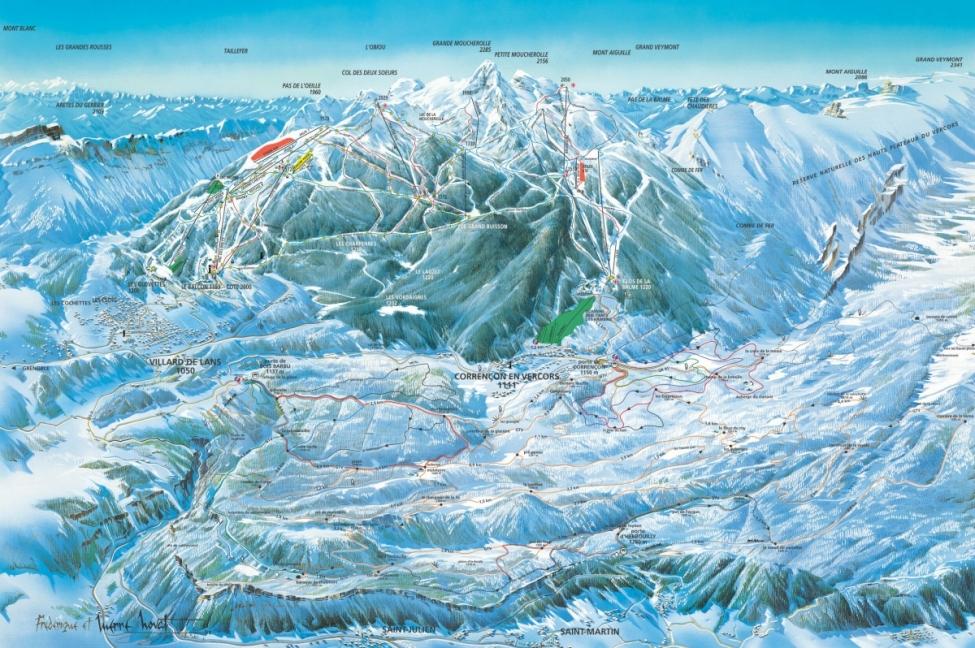 Villard de lans, station de ski à 110 min de annecy